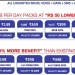 Jio Recharge Plans – Rs 198, 299, 349, 398, 399, 449 and more
